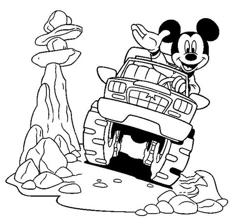 mickey mouse car coloring page 478 best images about mickey mouse friends colouring