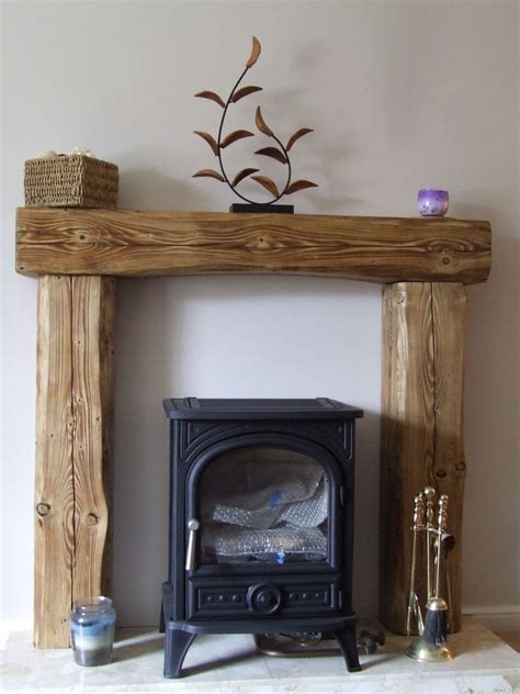 solid pine wood over mantle fireplace beam fire surround