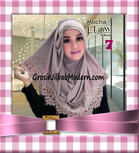 jilbab syria layer kerut renda two tone azzahra original by flow idea no 7 grosir jilbab