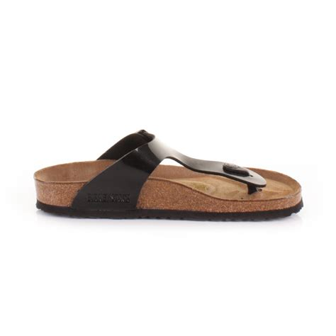 womens black patent flat shoes new womens birkenstock gizeh black patent flat footbed
