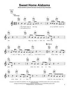 sweet home alabama piano sheet sweet home alabama sheet by lynyrd skynyrd ukulele
