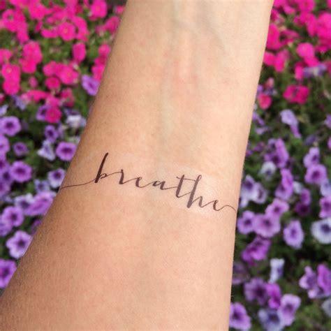 heartbeat tattoo breathe breathe tattoo arm tattoo temporary tattoo fake tattoo