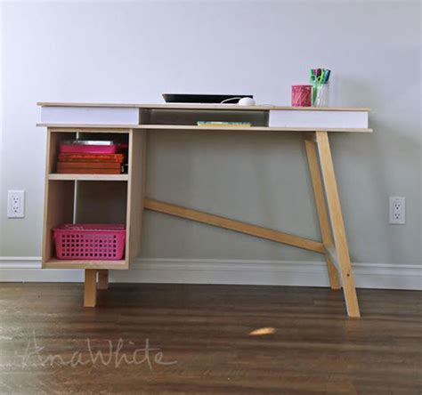 desk plans diy white grasshopper base for build your own study desk diy projects