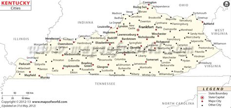 kentucky map counties and cities buy kentucky cities map