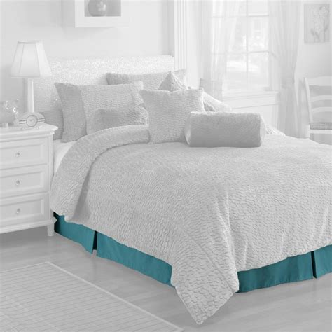 aqua bed skirt melrose aqua bed skirt at hayneedle