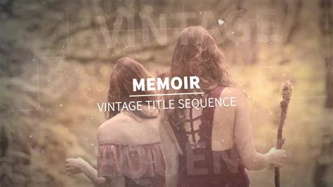 memoir vintage title sequence after effects template