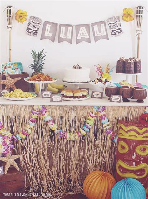 theme names for hawaiian parties a hawaiian luau party by threelittlemonkey luau party