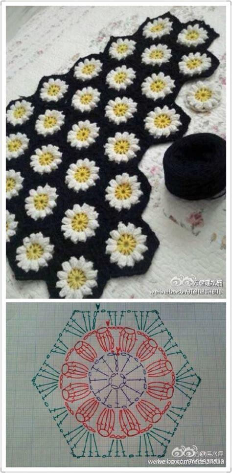 Crochet Hexagon Motif Free Patterns hexagonal flower motif crochet crochet kingdom