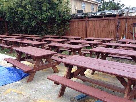 picnic bench rental rent picnic benches rental furniture nola woodworks