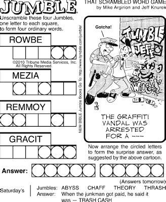 printable jumble games sudoku printable comics curmudgeon category jumble