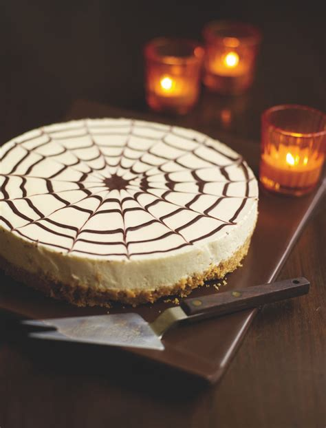 halloween spiderweb cheesecake recipe life  style
