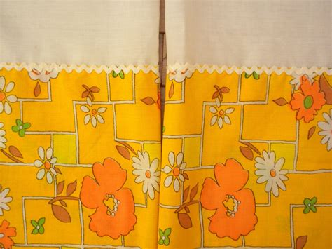 orange and yellow curtains vintage kitchen curtains sunny yellow and orange by brixiana