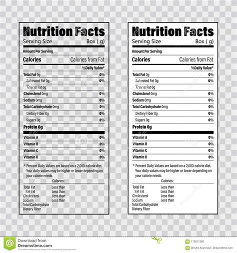 nutrition facts template outstanding free nutrition label template picture
