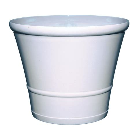 White Planters Home Depot by Manufacturing 36 In X 15 In White Resin Deck Planter 9302 48 3700 The Home Depot