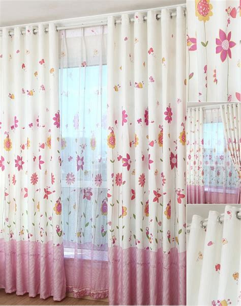 Bedroom Cozy Red White Floral Motif Bedroom Curtains Combination | get to know more about the floral curtains
