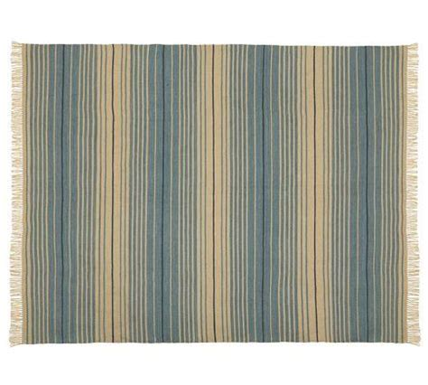 Indoor Outdoor Rugs Pottery Barn Dennis Stripe Recycled Yarn Indoor Outdoor Rug Blue Pottery Barn