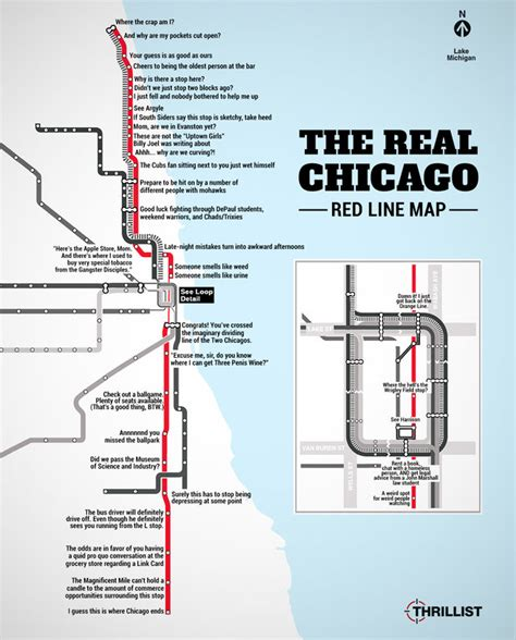chicago redline map the real line map chicago cta