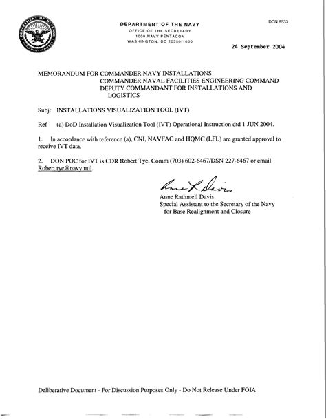 Navy Justification Letter Memorandum For Commander Navy Installations Commander Naval Facilities Engineering Command