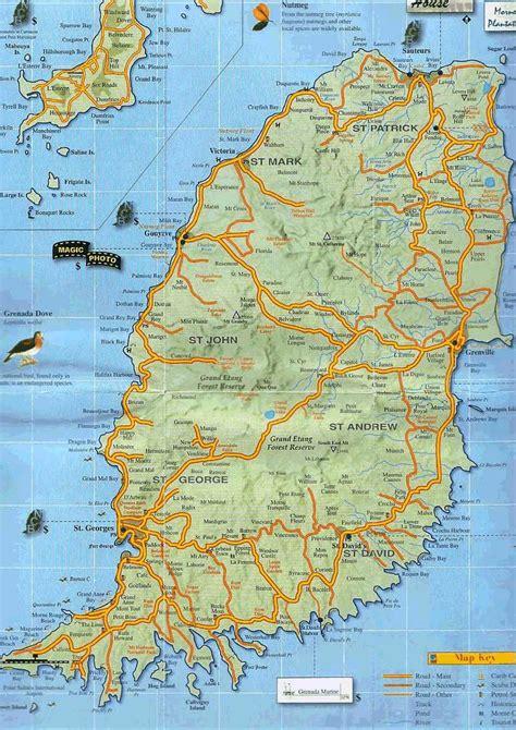 map of grenada island caribbean sailing and touring the caribbean islands