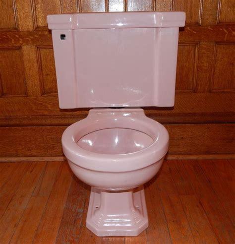 vintage mid century  american standard pink toilet