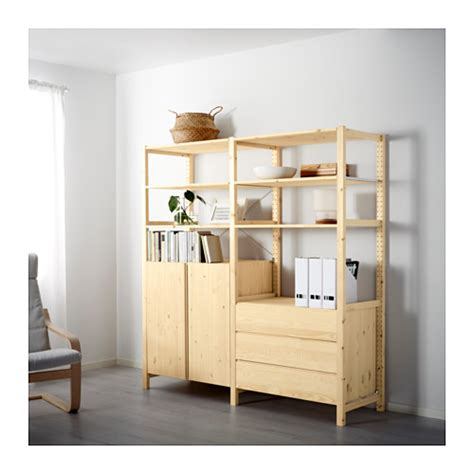 ivar 2 sections shelves cabinet ikea ivar 2 sections shelves cabinet chest pine 174x50x179 cm
