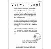 Strafzettel  Falschparken