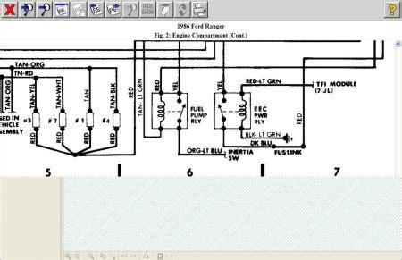 ford ranger fuel pump wiring diagram    ford