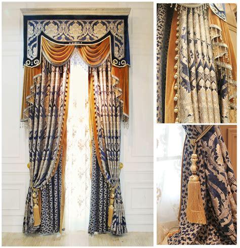 curtain fabric roll aliexpress com buy luxurious blue damask jacquard woven