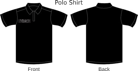 T Shirt Kaos Baju Roam Hitam me black polo clip at clker vector clip royalty free domain
