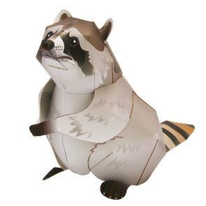 paper crafts canon raccoon other animals animals paper craft canon