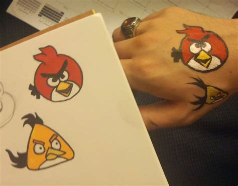 angry birds painting angry birds paint test 1 by thefxfox on deviantart