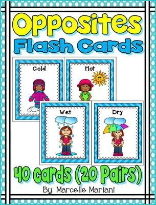 printable opposite cards for preschool opposites flash cards opposites word wall cards