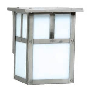 mission style outdoor lighting mission style outdoor wall light with frosted white glass
