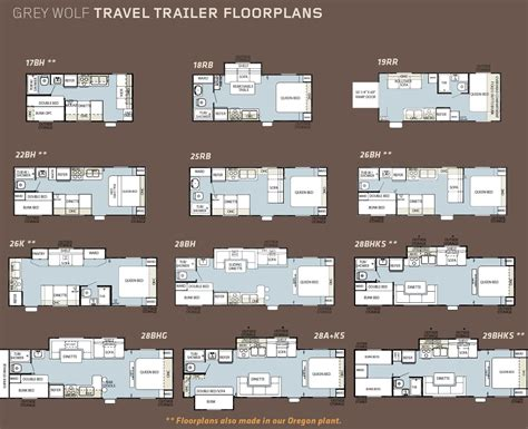 forest river rv floor plans forest river grey wolf travel trailer floorplans