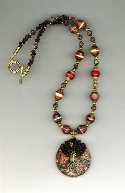 Make Paper Jewelry - paper used in a necklace paper bead and jewelry