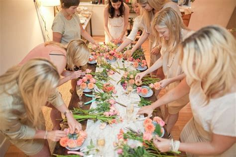 Bridal Arrangements by Diy Flower Arranging Bridal Shower It Weddings