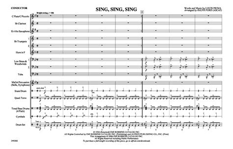drum pattern for sing sing sing sing sing sing arr ralph ford j w pepper sheet music