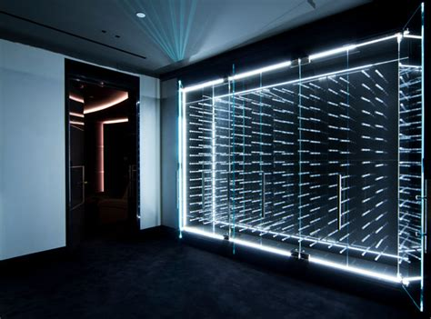 LED Illuminated Glass Enclosed Wine Cabinet   Modern   Wine Cellar   Vancouver   by Vin de Garde