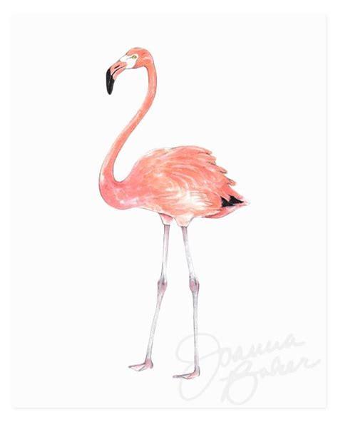 Printed Poster Flamingo flamingo print joanna baker