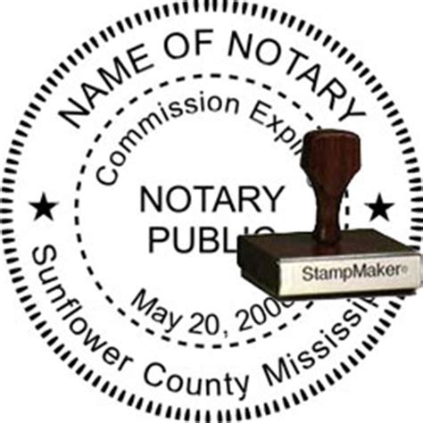 notary rubber st notary seal wood st mississippi thestmaker