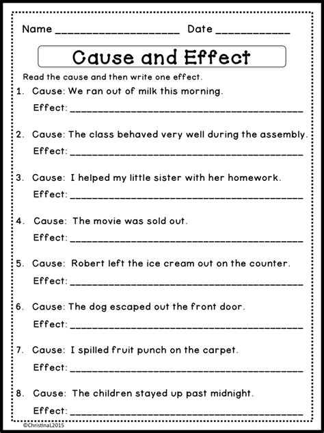 Cause And Effect Worksheets 2nd Grade by The Best Of Entrepreneurs Language Arts Quot Cause