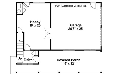 Garage Floorplans Craftsman House Plans Garage W Apartment 20 119 Associated Designs