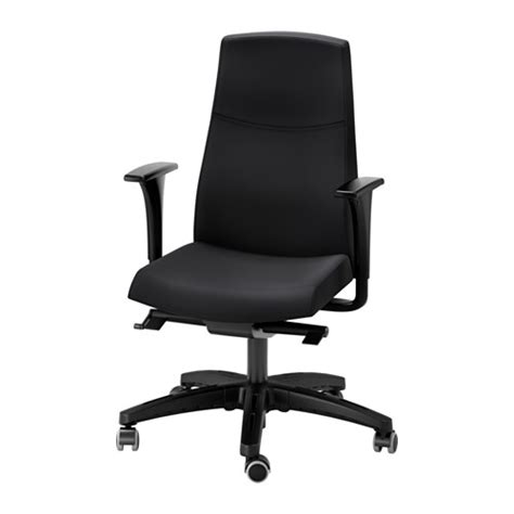 black swivel chair volmar swivel chair with armrests black ikea