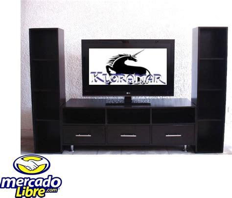 librero y tele mueble para television plasma 3b comoda librero sala