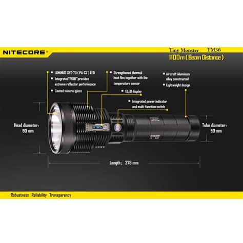 nitecore tm36 senter led luminus sbt 70 1800 lumens
