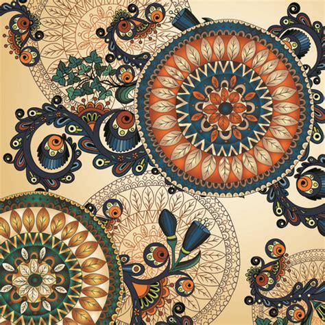 Ethnic Pattern Art | beautiful ethnic style seamless patterns vector set 03