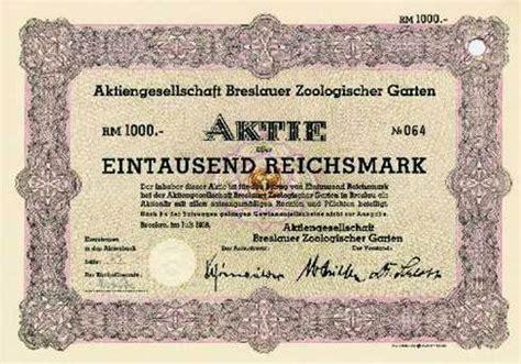 Zoologischer Garten Berlin Aktie by Hwph Ag Historische Wertpapiere Ag Breslauer