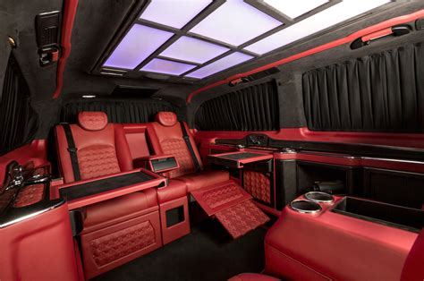 mercedes vito interior mercedes benz v class red l rovelver design vip luxe