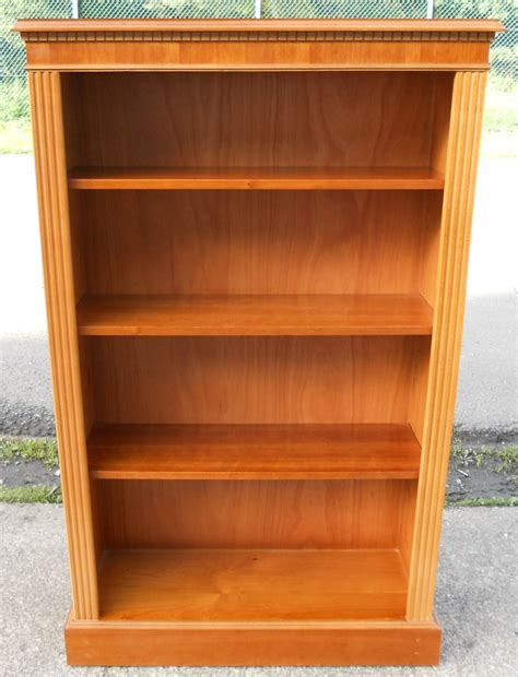 Yew Bookcase sold yew standing open cabinet bookcase