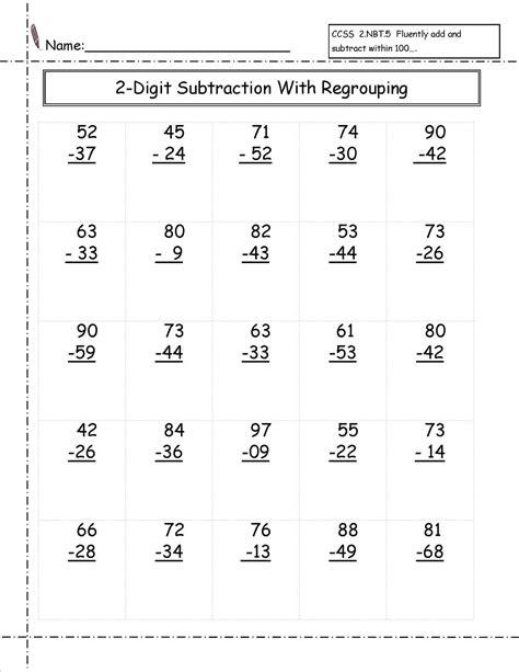 www printable 2 digit math worksheets loving printable